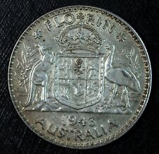 1943 Australia Florin ☆☆ Nice Circulated Coin ☆☆