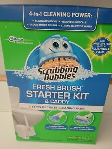 Scrubbing Bubbles Fresh Brush Starter Kit & Caddy 4in1 Discontinued NEW Sealed