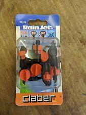 Claber 91250 Oblong Hole Micro Sprinkler 360° Adjustable, Black/Orange/Grey