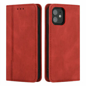 Magnetic Leather Wallet Flip Cover Case For iPhone 13 Pro Max 12 Mini 11 XS XR 6