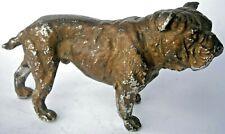 British Bulldog English Dog Statuette Figurine Mastiff England Old Europe Metal