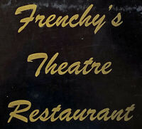 Vintage 1964 Frency's Theatre Restaurant Menu Mission Boulevard Hayward Theater