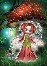 Nature Fairy Birthday Card for women and girls with cute gnome & toadstool house