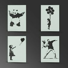 Banksy Stencil Mylar Sheet Painting Wall Art Craft Airbrush 190 Micron