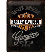 Harley Davidson Genuine Logo Nostalgie Blechschild 40 cm NEU  shield