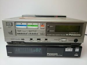 Vintage 1984 Panasonic PV-9000 & PV-A860 Portable Video Cassette Recorder Tested