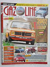 GAZOLINE N° 198/BMW 2002 Ti/PEUGEOT 403/LANCIA AURELIA B52/PANHARD 24 CT/ALFASUD