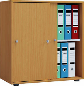 VCM Aktenregal Schrank Büromöbel Aktenschrank Büroregal Ordnerregal Lona 2-fach