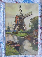 Mühle Fluss Landschaft Gemälde Kunstwerk Postkarte Ansichtskarte 3035