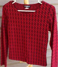 Women's Red Print Shirt by Step by Step; Size: Large