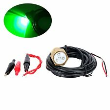 "Green light CREE LED 9W Boat Drain Plug Light Fishing, Swimming, Diving 1/2"" NPT"