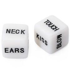 2pcs Erotic Dice Game Adult Bachelor Party Game Lover Valentines Day Supply New