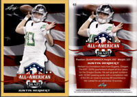 2020 JUSTIN HERBERT - LEAF DRAFT GOLD ALL AMERICAN INSERT ROOKIE CARD OREGON!