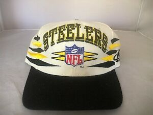 Vintage 90s Pittsburgh Steelers Logo Athletic Diamond Pro Line Snapback Hat Cap