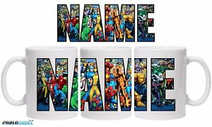 New Marvel Personalised mug 11oz Your Name Captain America Hulk gift birthday