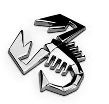 1Pcs Auto Metal New Silvery Scorpion Body Rear Trunk Lid Sticker Badge Emblems