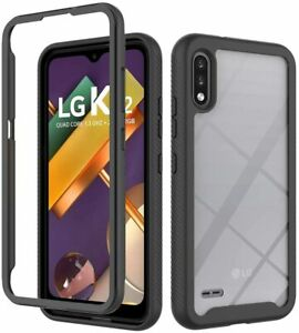 For LG K22 K22 Plus Shockproof Back Clear TPU Cover Case With Screen Protector