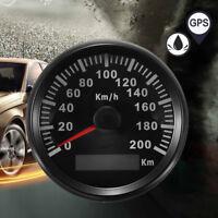 """Universal 3-3//8/"""" GPS 200MPH 300KM//H Velocímetro calibre Retroiluminación LED Rojo para Coche"""