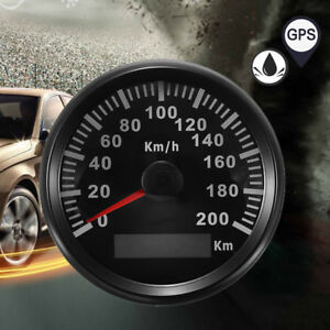 85mm 200 KM/H GPS Speedometer Waterproof Digital Gauges Ven RV Car Truck Pickup