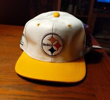 New Vintage NFL 4 Time Champions PITTSBURGH STEELERS Leather Hat Cap One Size