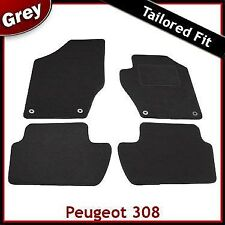 Peugeot 308 2007 2008 2009 2010 2011 2012 2013 Tailored Carpet Car Mats GREY