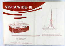 Visca Wide 16 Instructions - 3 9x11 inch pages, no print date, photocopies