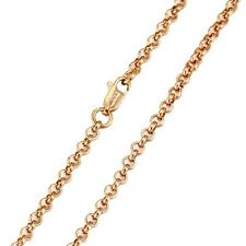 """9ct 9k Yellow """"Gold Filled"""" Men Girl Rolled Gold Belcher 24"""" Chain Necklace.Gift"""