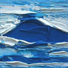 "BLUE SEA ABSTRACTION Original Acrylic Seascape Painting 6""x6"" Julia Garcia NEW"