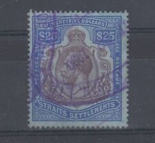 More details for straits settlements kgv 1923 $25 revenue sg240b fine used jk633