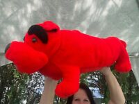 """RARE LARGE Vintage Toy Works Red Puppy Dog 22"""" Plush Stuffed Animal Toy"""