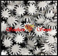 BLACK & WHITE LOLLIES CANDY STARLITE PINWHEELS COLA FLAVOUR 1KG 165CT STARLIGHTS