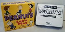 NEW Peanuts 2003 Day By Day Comic Desk Calendar with Box Andrew McMeel Pubg