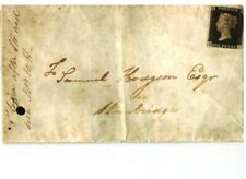 GB Penny Black on Cover - Brief B - I red cancel roter Stempel from Birmingham
