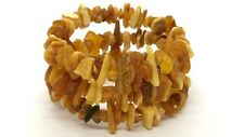 Lot 3 Natural Baltic Amber Raw rough unpolished healing bracelet set 27 g #2798