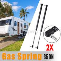 2X Campervan Caravan Gas Locker Spring Strut 350N Universal Support Arm  !!