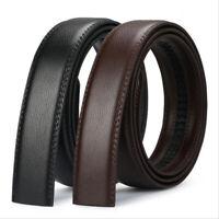 Mens Genuine Leather Belt Automatic Buckle Waist Strap Belt 5 Colors 110-140cm