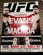 "UFC 98 BAR SIZE 18""X24"" POSTER EVANS VS MACHIDA, HUGHES VS SERRA MAY 23, 20096"