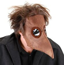 Plague Doctor Medico Mask Brown Costume Steampunk Nose Adult Renaissance Faire