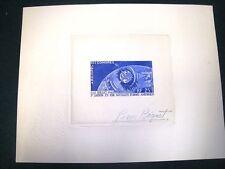 COMORES 1962  Télécommunications Spatiales ,Yvert#PA7 - Epreuve d'Artiste ,Signé