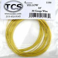 "Wire 30awg 10 foot length Yellow, seven strand wire outside diameter 0.026""."