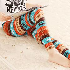Women Sexy Slim Leg Leggings Fashion Stretchy Jeggings Printed Pencil Pants