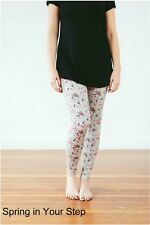 Ooh La Leggings Womens -Super Soft -ONE SIZE, Spring Floral