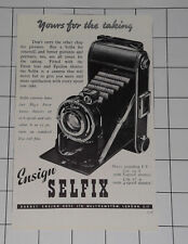 Ensign Selfix Camera  Barnet Ensign Ross Ltd Walthamstow London 1949 Advert
