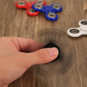 NEW BLACK Fidget Finger Hand spinner STEEL BEARING Ultimate Spin Stress Toys UK