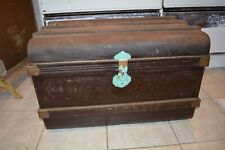 Wonderful Large Victorian Painted Tin trunk