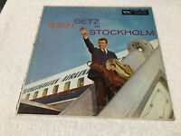 LP STAN GETZ IN STOCKHOLM Verve Records Mono MGV-8213 1958
