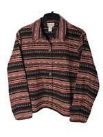 Coldwater Creek Women's XL Unlined Button Front Jacket EC