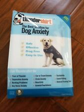 New listing Thundershirt Dog S Small 15-25lbs Solid Gray Best Solution for Anxiety