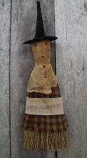 PATTERN ON CD~MY PRIMITIVE SALTBOX/WITCH/WHISK BROOM/DOLL/HALLOWEEN/PT121