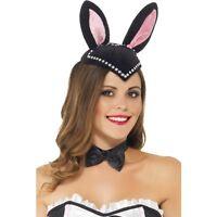 Women's Burlesque Bunny Skull Cap Hat Rabbit Fancy Dress Hen Night Theme Event